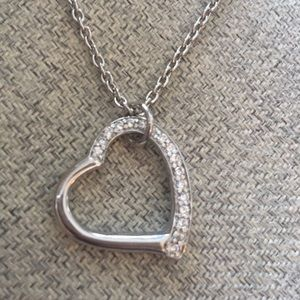 Silver Tone Heart Necklace